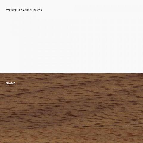 Bibliothèque de sol en métal, aluminium et bois Made in Italy - Bonaldo Aliante