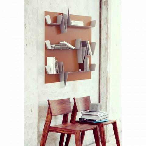 Bibliothèque de conception Battikuore 90x127 (3 étagères) Mabele