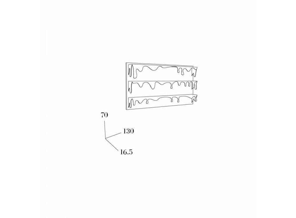 Bibliothèque de conception Kolata 130x70 (3 étagères) Mabele