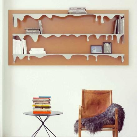 Bibliothèque de design moderne Kolata 130x70 (3 étagères)