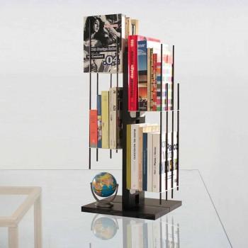 Bibliothèque colonne design moderne Zia Veronica en hêtre massif