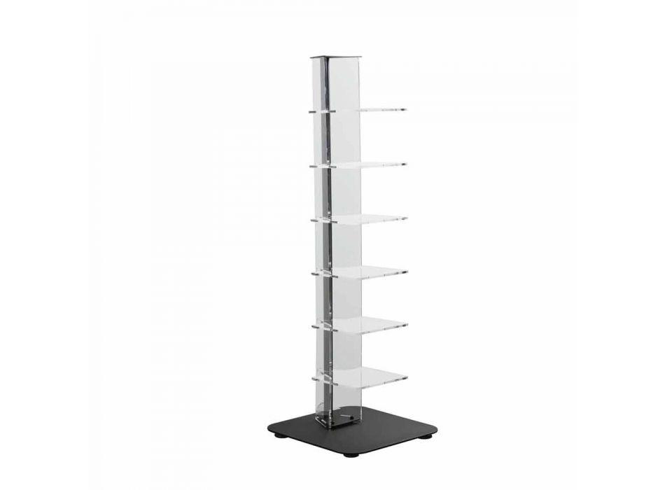 Bibliothèque méthacrylate de design moderne, L35xP35xH100 cm, Jesse