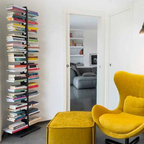 Bibliothèque Zia Bice fixée au mur et aux étagères made in Italy