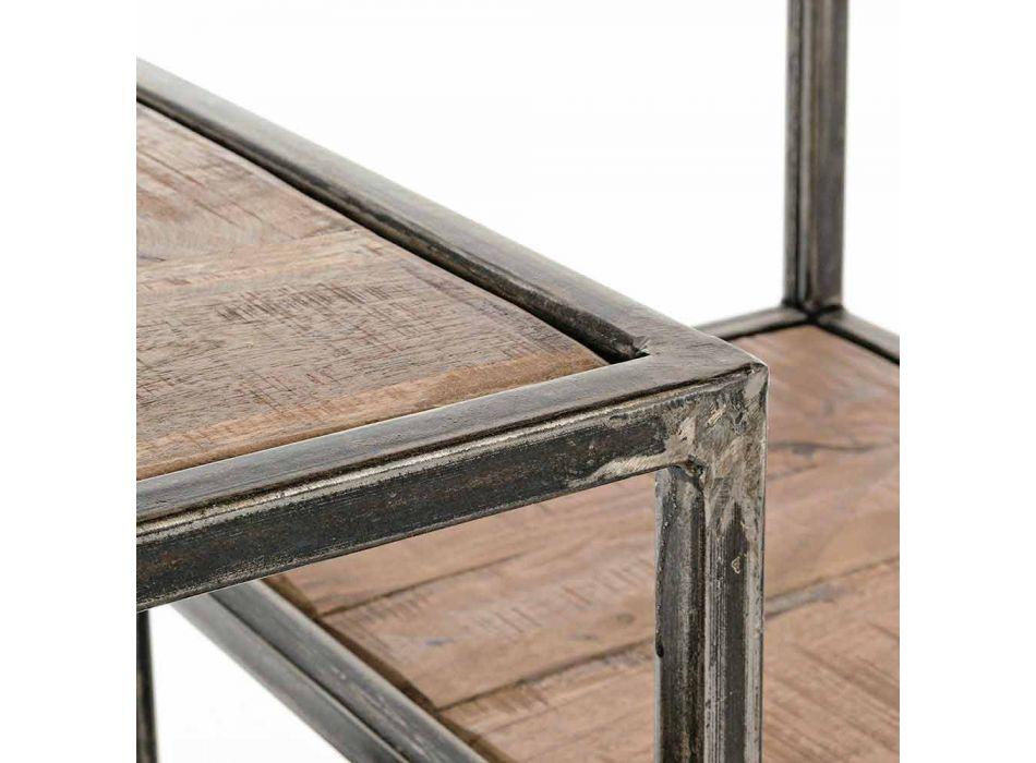 Bibliothèque Homemotion en acier peint et bois de style industriel - Zompo