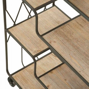 Bibliothèque de plancher de design moderne industriel en fer et MDF - Chuck