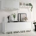 Buffet de  design en bois avec 4 portes Ray, made in Italy