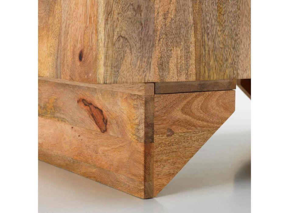 Buffet ethnique moderne en bois de manguier massif, Cecina