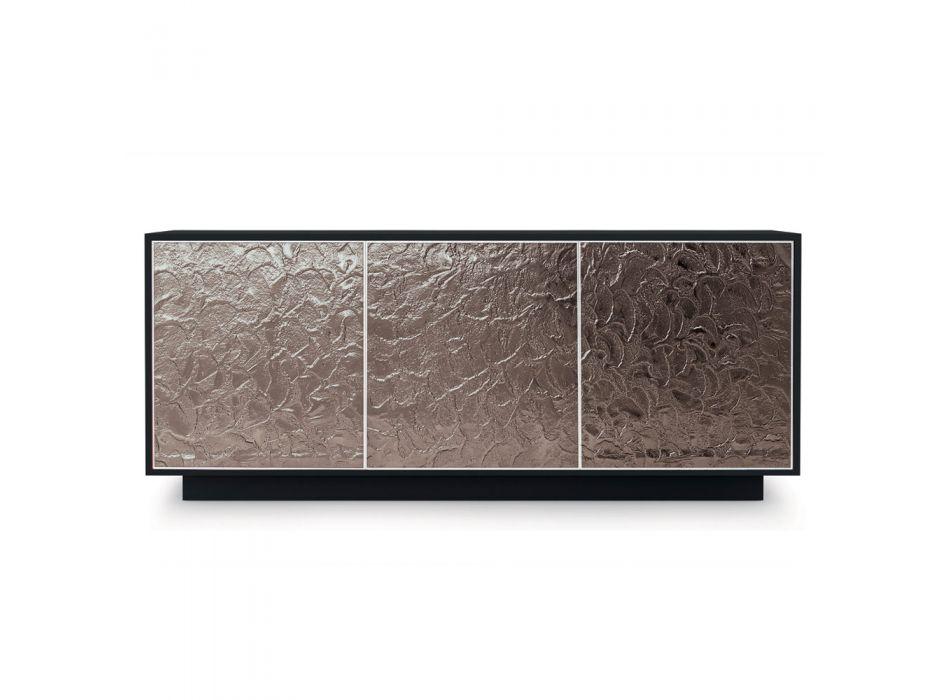 Buffet en bois laqué mat avec portes en verre Made in Italy - Fiorenza