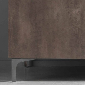 Buffet Moderne Trois Portes en Bronze ou Mélamine Gris Fabriqué en Italie - Clemente