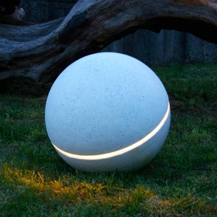 Marbre d'éclairage LED en forme de sphère Sphera avec 1 fente