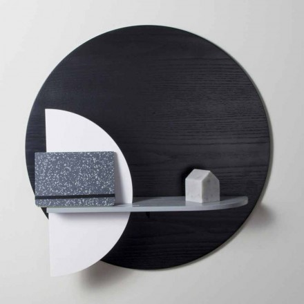 Étagère design en multicouche verni composée de panneaux modulaires - Livia