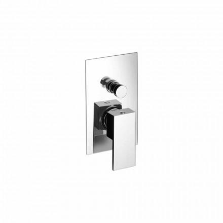 Mitigeur de douche ou de baignoire encastrable au design moderne Made in Italy - Panela