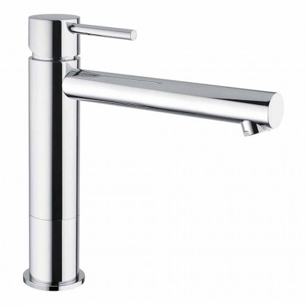 Mitigeur de lavabo en laiton chromé sans drain Made in Italy - Ermia