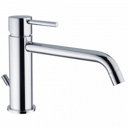 Mitigeur lavabo avec bec 200 mm entraxe en laiton Made in Italy - Liro