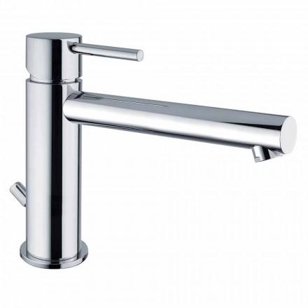 Mitigeur lavabo en laiton avec bec 170 mm entraxe Made in Italy - Ermia