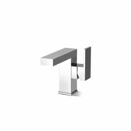 Mitigeur de lavabo à levier latéral sans drain en laiton fabriqué en Italie - Panela