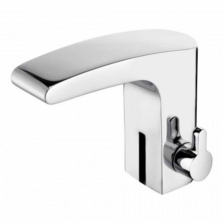 Mélangeur de lavabo avec capteur infrarouge en laiton chromé, luxe - Gonzo
