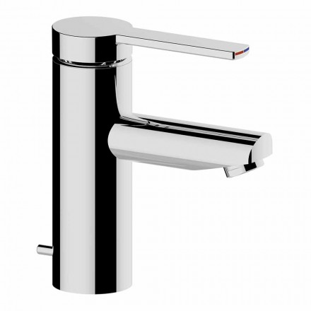 Mitigeur de lavabo en laiton finition chrome, design raffiné - Zanio