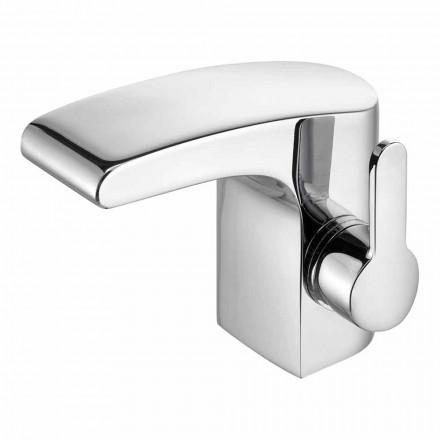 Lavabo de salle de bain de luxe à levier unique fini chrome - Gonzo
