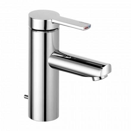 Mitigeur de lavabo à levier unique en laiton, design précieux - Zanio