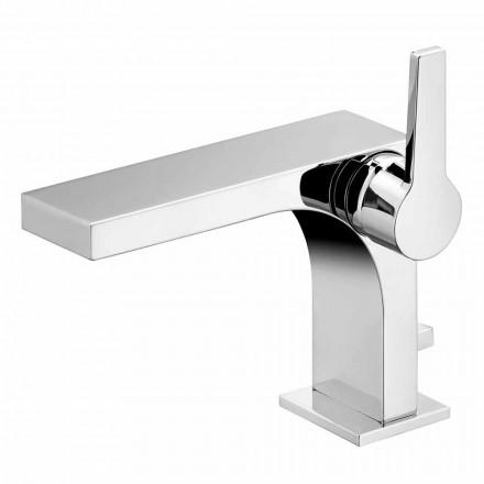 Mitigeur monocommande lavabo avec drain, en laiton, par Design- Etto