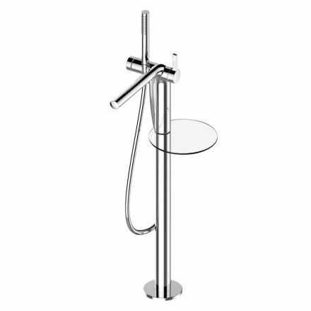 Mitigeur de baignoire moderne à levier unique avec pomme de douche en métal - Pinto