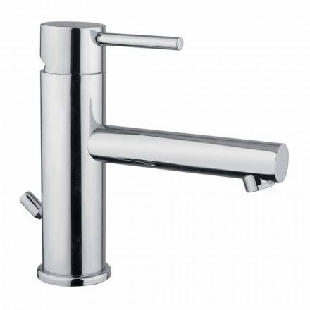 Mitigeur de lavabo de salle de bain moderne en laiton chromé fabriqué en Italie - Ermia