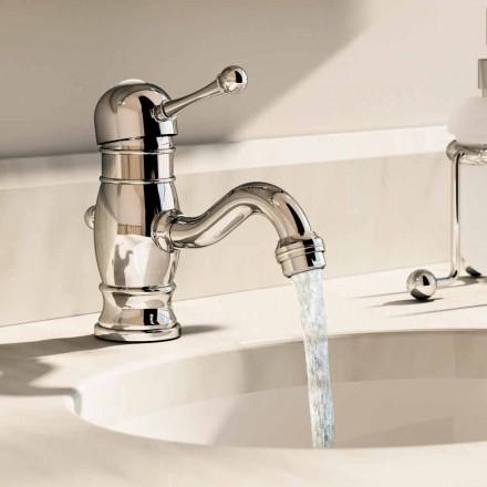 Mitigeur lavabo en laiton chromé hauteur 150 mm Made in Italy - Binsu