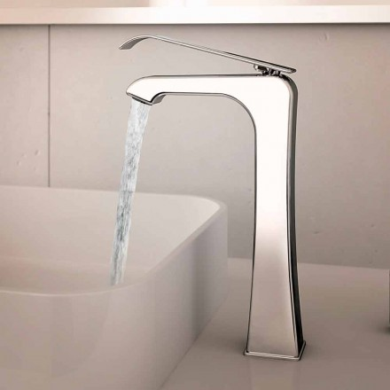 Mélangeur de lavabo en laiton chromé design Made in Italy - Bonina