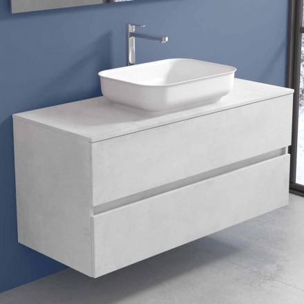 Meubles de salle de bain suspendus avec lavabo design en 4 finitions - Paoletto