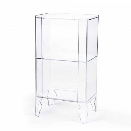 Meuble haut moderne en méthacrylate transparent épaisseur 8 mm Simon