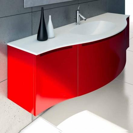 Meuble pour salle de bain suspendu avec évier intégré, 1cestone + 2ante Gioia