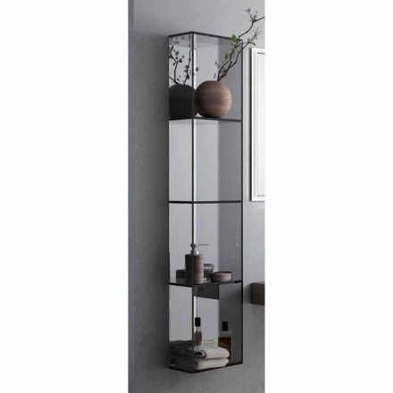 Meuble pour salle de bain 4 compartiments, L300x H1400 mm, Adelia
