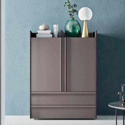 Buffet de salon en bois écologique avec 2 portes et 2 tiroirs - Eliseo