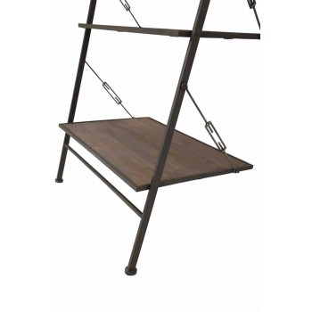 Armoire en bois et métal de style industriel au design moderne - Denes
