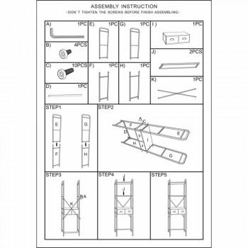 Armoire de salle de bain industrielle moderne en fer - Pome
