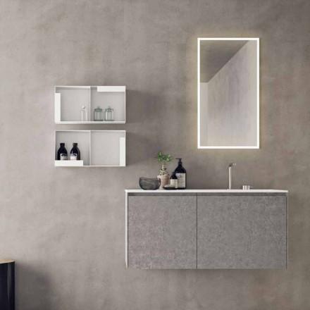 Meubles design suspendus, composition de salle de bain moderne - Callisi9