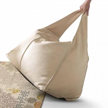Pouf style moderne de design en cuir My Home Bag fait en Italie