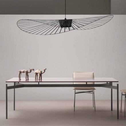 Table moderne de design en MDF laqué My Home Dub faite en Italie
