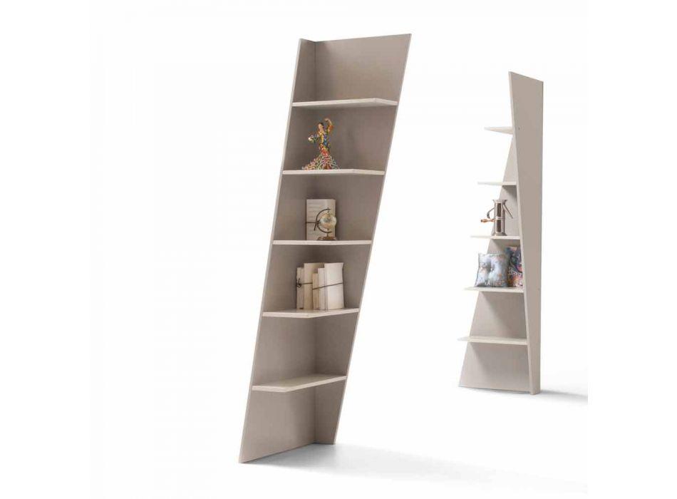 My Home Esquina bibliothèque d'angle design MDF laqué H220cm fabriqué en Italie