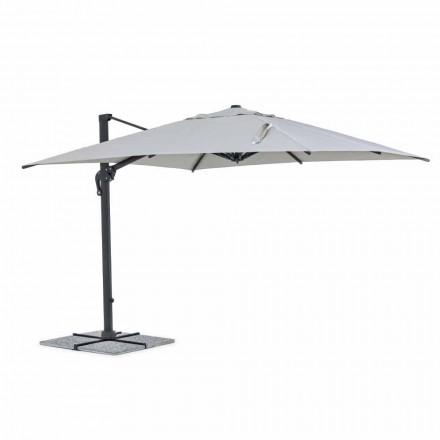 Parapluie d'extérieur, 3x3 avec tissu gris clair et structure anthracite - Dalton