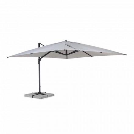 Parapluie d'extérieur 4x4 en polyester gris clair et aluminium - Daniel