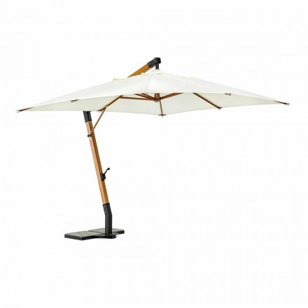 Parasol de jardin écru en polyester et bois 3x3, Homemotion - Passmore
