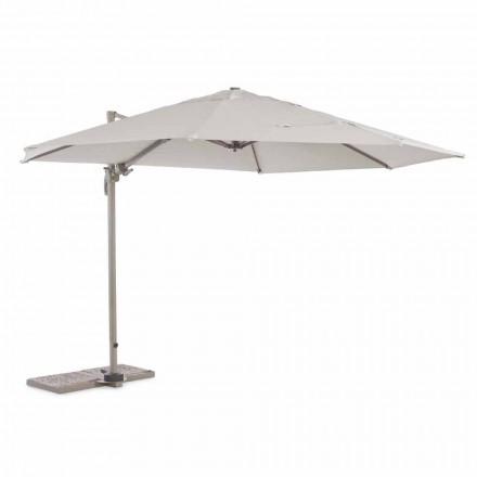 Parapluie d'extérieur, diamètre 3,5 m en polyester avec mât en aluminium - Linfa