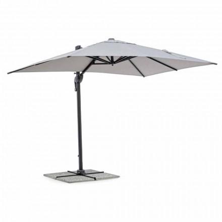 Parasol de jardin, 2x3 en polyester avec mât en aluminium anthracite - Coby