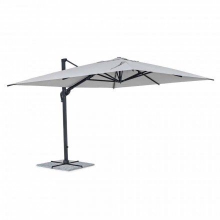 Parasol de jardin, 3x4 avec tissu en polyester gris clair - Dalton