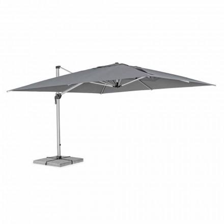 Parasol de jardin 4x4 avec tissu gris foncé et structure anodisée - Daniel