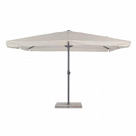 Parasol de jardin 4x4 avec tissu en polyester et base en acier - Nastio