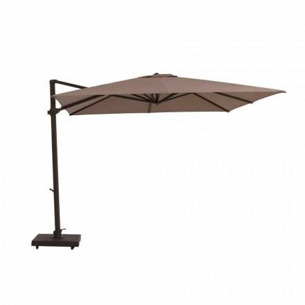 Parasol de jardin, 3x3 m en tissu et acier - Marte by Talenti