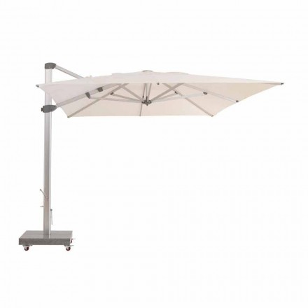 Parasol de jardin, 4x4 m en tissu déperlant - Zeus by Talenti